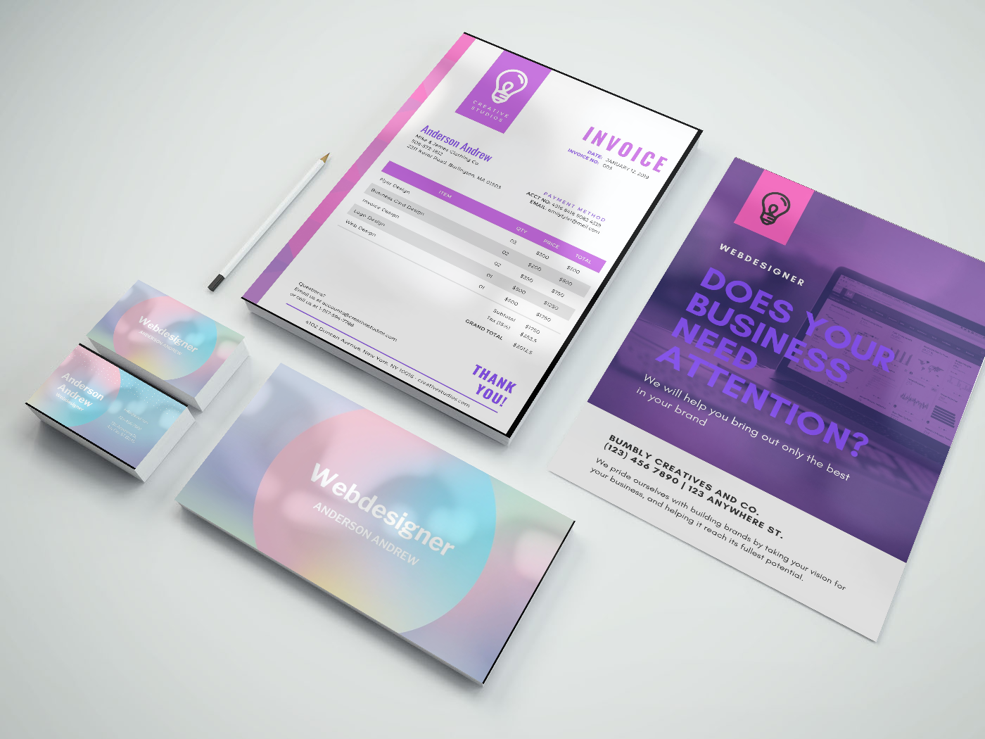 Support visuel - Creation-logo-carte-de-viste-branding
